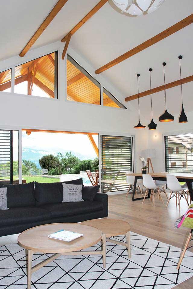 constructeur de maisons en bois - intérieur - maison eco nature