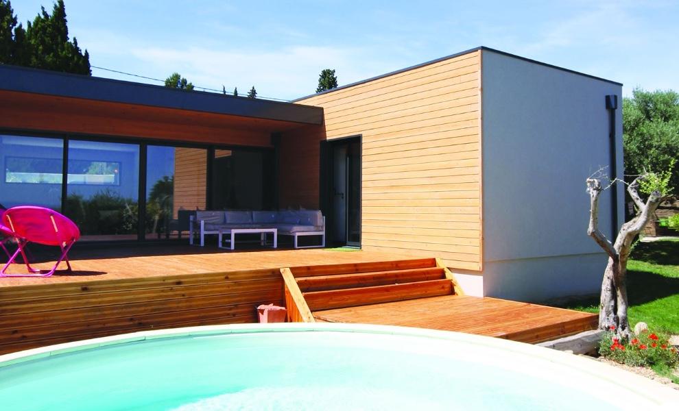 Modèle « Eole », toiture plate
