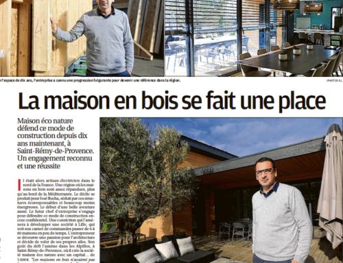Maison Éco Nature dans le journal LA PROVENCE